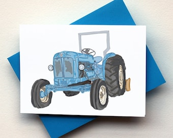 Antique Blue Tractor