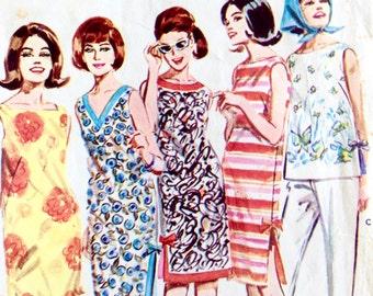 Vintage 1960s Paper Pattern, Butterick Skimmer Shift, Bust 32, Size 12, No 2920, Sewing Pattern, Butterick Publishing NSW Australia