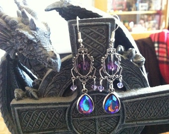 """""""baroque Holographic"""" baroque gothic earrings"""