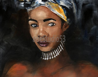 A giclee print of original oil painting Gugu