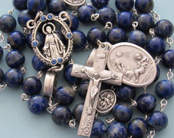 "Rosary blue, Infant Jesus, ""Elizabeth Woodville"""