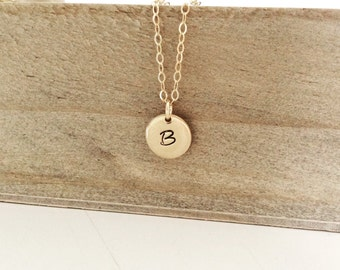Gold Necklace, Initial Jewelry, Bridesmaid Gift, Personalized Necklace Personalized Gift Bridesmaid Necklace Best Friend Gift, Initial Gift