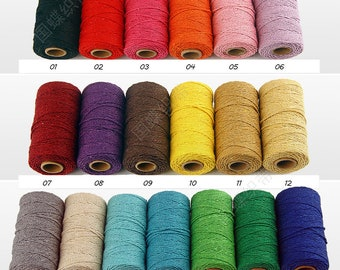 1Roll for 2mm 100meters coloured cotton rope,caft supplies, weave Jewelry Making Beading Leather craft  Twine - Wedding / Event Supplies 042