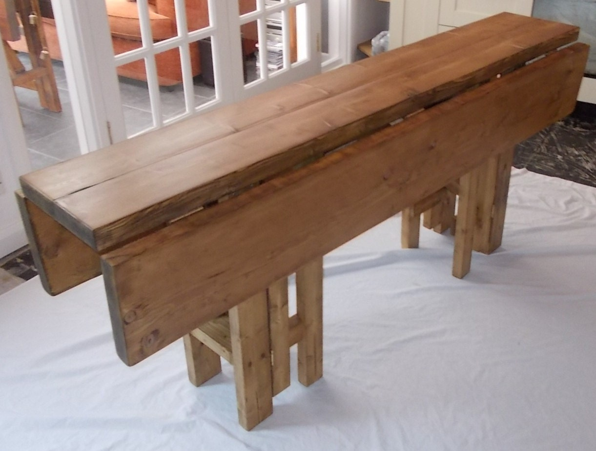 Large handmade rustic drop leaf kitchen dining table 4 gate zoom workwithnaturefo