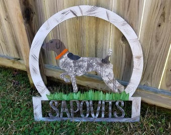 German Shorthaired Pointer Family Name/Welcome Sign