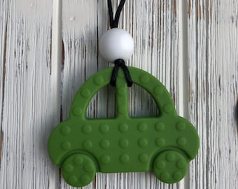 Car Necklace, Silicone Car, Teething Necklace, Sensory Necklace, Nursing Necklace, Babywearing Necklace, Chewelry, Silicone Necklace