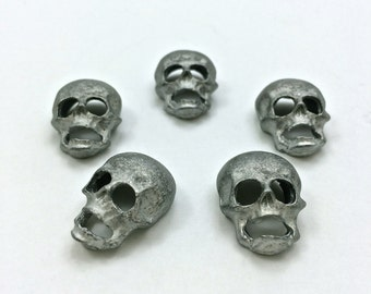 5pc Vintage Skulls Raw // Personalize // Heavy Antique // DIY // Projects // Supplies // Made in The USA by Winky&Dutch