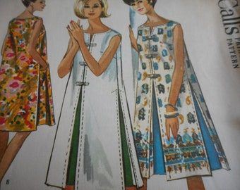 Vintage 1960's McCall's 7143 Shift Dress Sewing Pattern Size Large 18-20 Bust 38-40