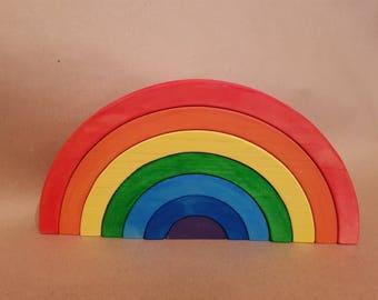 Magic Rainbow wooden toy baby toy kid toy