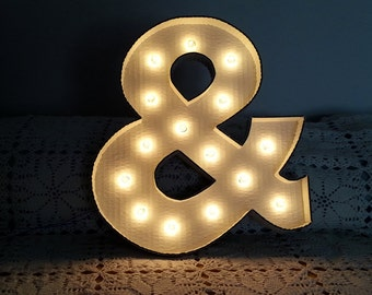 Marquee style Ampersand sign