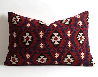 16x24 lumbar kilim pillow cover bohemian pillow, boho pillow, throw pillow, pillow cover, decorative pillow, cushion cover, boho, vintage
