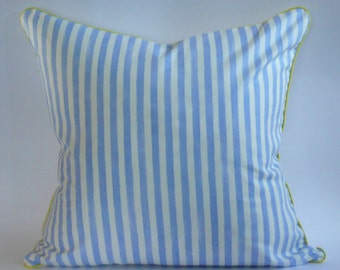 Blue and White Striped  Pillow Cover