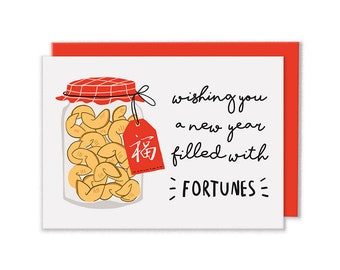 Chinese New Year Fortune Cookies Card
