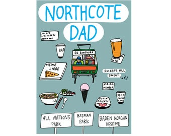 Father's Day Card - Northcote Dad