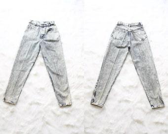 90s mom jeans | high waisted jeans | acid wash denim pants | ultra high waist [ size 9, 25 waist ]