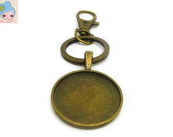 Lot 3 key holder Tray 25mm bronze: OUT 0210