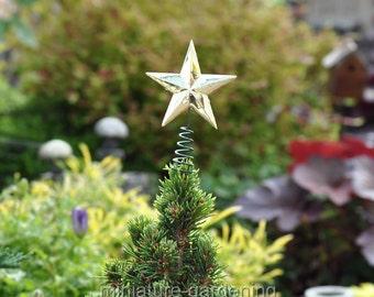 Star Tree Topper for Miniature Garden, Fairy Garden