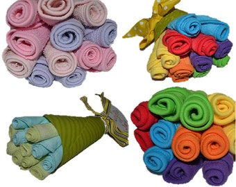 Washcloth Bouquet -  Gender Neutral (Pink and Blue also available)