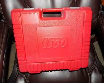 Vintage 1985 The Lego Group Hard Red Case EUC