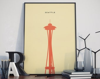 Seattle Space Needle Print. High Quality Poster.