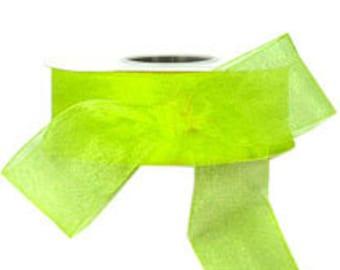 Citrus Yellow Sheer Ribbon     (10-##-S-119)