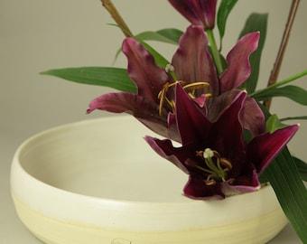 White Suiban vase for Ikebana