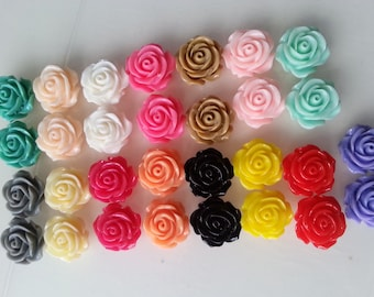 Vintage style, Rose, studs, earrings, Romantic,choose colour, roses, by NewellsJewels on etsy