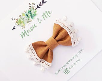 Mustard Trimmed Bows
