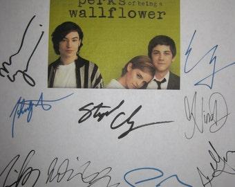 The Perks of being a Wallflower Signed Movie Film Script Screenplay X16 Autograph Emma Watson Ezra Miller Logan Lerman Kate Walsh Tom Savini