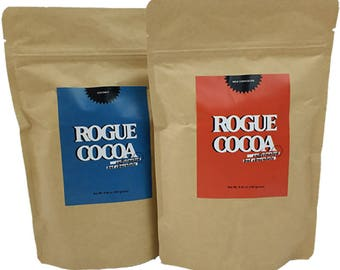Caffeinated Hot Chocolate Double - Rogue Cocoa, Caffeine, Best Hot Chocolate, Iced Cocoa