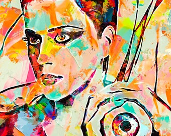 Katy Perry abstract painting. digital art abstract original painting