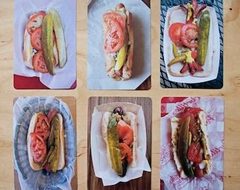 Chicago Hot Dog Postcard Set