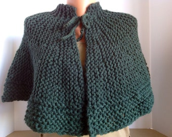 Wool, Warm, Lined Capelet