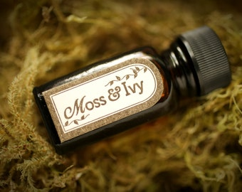 SALE Moss and Ivy™ - natural perfume oil with oakmoss, basil, lavender, fresh herbs, leaves, woods, spring forest scent - For Strange Women