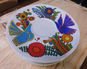 "Acapulco"" China, Villeroy & Boch. 6 Saucers / Desert Plates"