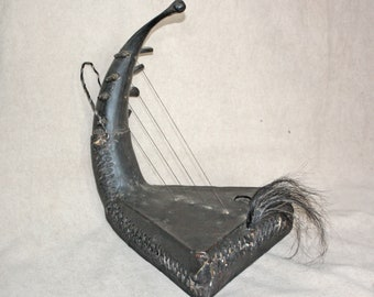 Old Vintage African Congo Tribal Harp     Musical Instrument