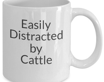 Easily distracted by cattle mug
