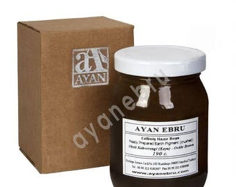 Ebru Marbling Paint Colors-Oxide Dark Brown 190cc (Ayan)