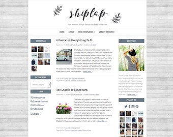 Wordpress Theme, Genesis Child Theme, Blog Design, Blog Template, Website Design