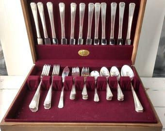 53 Pcs. Tudor Plate Oneida By Community Silverware, Vintage Silverware, Flatware