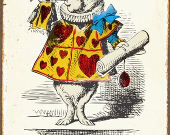 Alice In Wonderland Im Late Rabbit - Vintage Poster