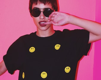 Smiley Face Shirt // 90s Grunge // 90s Fashion // Vaporwave // Smiley Face // Punk
