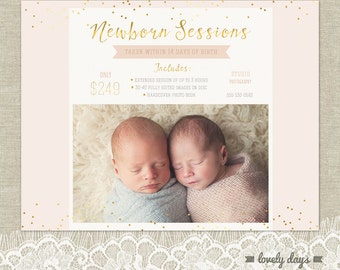 Newborn Mini Session Template Marketing Board Flyer for Photographers INSTANT DOWNLOAD