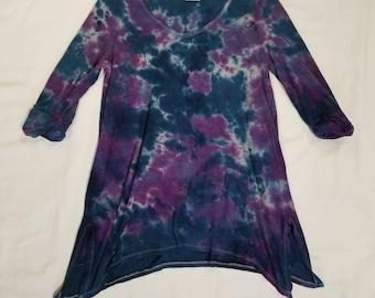 Funky Tie Dye Ladies Blouse size Small W523