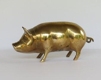 Vintage Brass Pig - Brass Pig Figurine