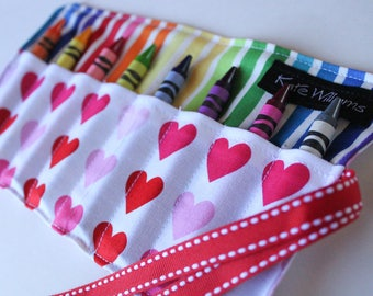 Kid Easter Gift-Girl Easter Gift-Crayon Roll-Crayon Holder-Party Favor-Girl Birthday Gift-Crayon Holder-Crayon Organizer-Kid Craft-Kid Toy