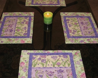 Tiptoe Through the Tulips Quilted Placemats (Set of 4)