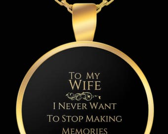From Husband To Wife One Of a Kind Gold Plated Pendant