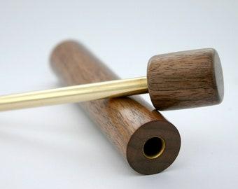 Briquet pneumatique - Fire piston - En bois de noyer - Bushcraft & Randonnée