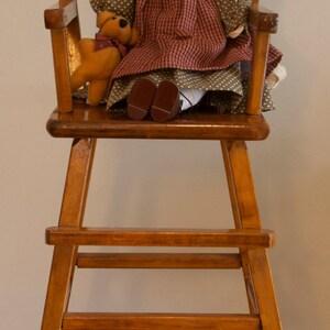 Wood Doll's High Chair